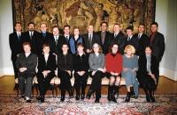 Meeting of directors of Czech centres, Evžen Gál standing second from the left, Prague 2004