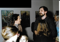 Study stay in Budapest - exhibition opening with Hungarian singer Zsuzsa Koncz, Budapest, 1988