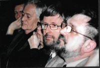 An evening in honour of Bohumil Hrabal - from the right: Evžen Gál, Ambassador Jaromír Plíšek, director István Szabó, Budapest 2007