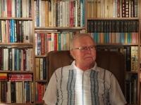 Photograph of Mr. Vízek during recording