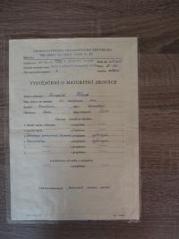 Certificate - Secondary Industrial School of Stonemasonry
