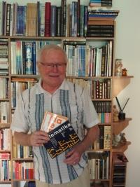 František Vízek with the maths books