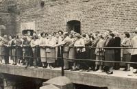 Alena Hudcová on a tour in Terezín