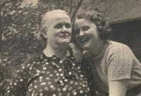 Alena Hudcová with her grandmother