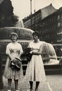 Alena Hudcová in Prague, a trip to the Spartakiad in 1960