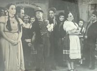 Her father Jaroslav as an amateur actor, 1950s