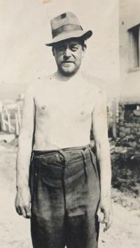 Her father Jaroslav after leaving the bunker (1945)