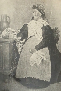 A portrait of her great-grandmother