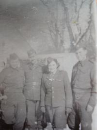Josef Burger on the left