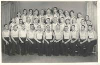 Sokol - instructors group, Klatovy 1945, upper line 2. from the right F. Wiendl, 3. from the right Dr. Krbec, middle line in the middle Štork