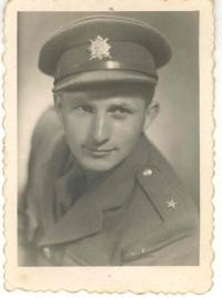 From military service, second lieutenant, 1946