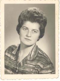 Manželka Františka Wiendla Jana, rozená Štarková, 60. léta