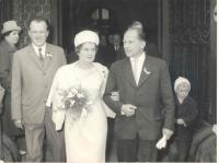 Wedding ceremony of František Wiendl and Jana Štarková, 1965