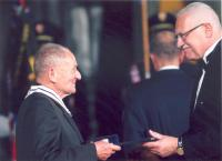 Handing over the order of TG Masaryk third class, 28.10.2008