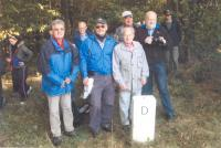 With Rotary club, Czech Bavaria state border, near Jägershof, 2013