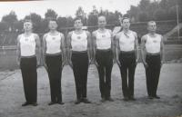 Závodní družstvo v gymnastice