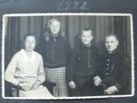 With parents and sister - 1933