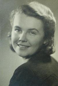 Libuše Chourová-Šimková těsně před zatčením v roce 1942