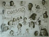 Tablo poválečné oktávy roudnického gymnázia - L.CH. s vykřičníkem