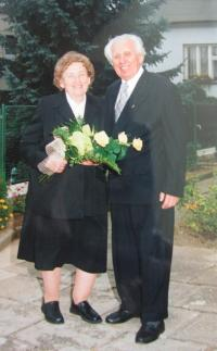 The golden wedding of M. Spáčil and his wife Dagmar in 2004