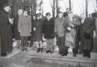 M. Spáčil at a burial in 1970