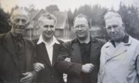 Špak in 1955 in České Budějovice with friends from the congregation