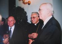 Špak with archbishop Vlk and chairman of Ecumenical Church Council Smetana