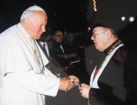 Špak with John Paul II.