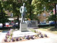 Současná podoba bronzové sochy T.G. Masaryka v Hodoníně