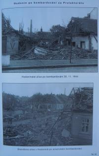 Hodonín po bombardování za Protektorátu