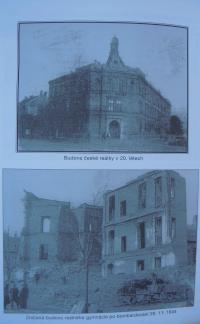 Budova české reálky v Hodoníně ve 20.letech