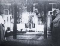 interior of old church in Skejus