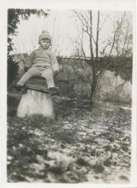 Dagmar Lieblová jako dítě
