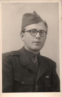 Pavel Oliva in 1949 like soldier