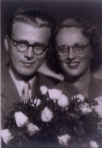 Pavel and Vera Oliva wedding photo, in 1946