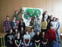 Students from the project Stories of our neighbours and their painting associated with the story
