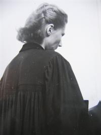 Z. Schubertová as a pastor in Zlatá Olešnice in 1974