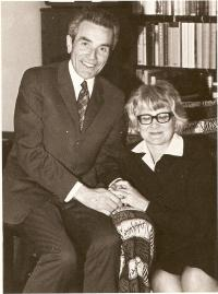 Pastor Václav Mikulecký and his wife in 1972