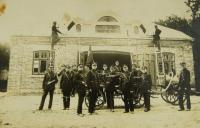 Firemen's base in Zawidow, the father of V.K. second from left in the front