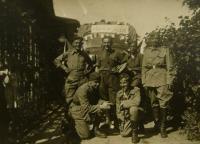 V.K., on right, in Kyje - 1945