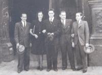 Svatba, Praha, 27. 7. 1945