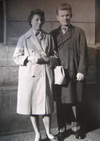 P. Hlaváč with his wife in 1962