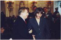 With Vaclav Havel in 2000