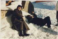 Dana Němcová in Chamonix, 1997
