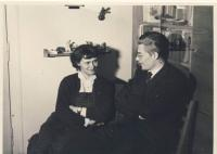 With husband, cca 1957