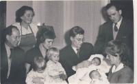 With husband, children and family, cca 1958