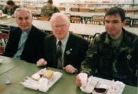 Minister Dus in the middle, military chaplaincy, Rome 2005