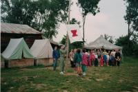 Summer camp with the children from the Vinohrady congregation, Mysliv 1995