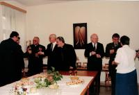 Minister Dus third right, after signing the contract between the churches and the Ministry of Defence