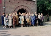 Minister Dus 1st right, 2nd row, visiting Holland with elder members of the Congregation, about 1992